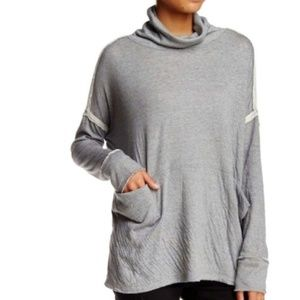 {S} Free People Long Flight Pullover Gray Sweater